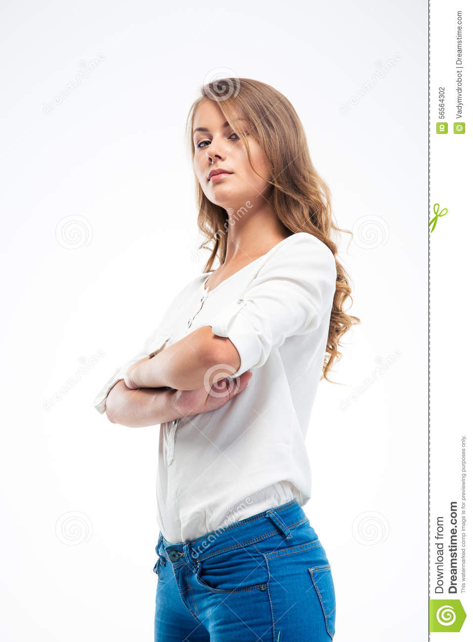 Disappointed Young Lady Looking Away Angry Stock ...