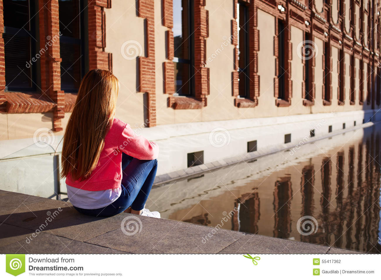 Young Woman Suffering From Loneliness And Depression Stock ...