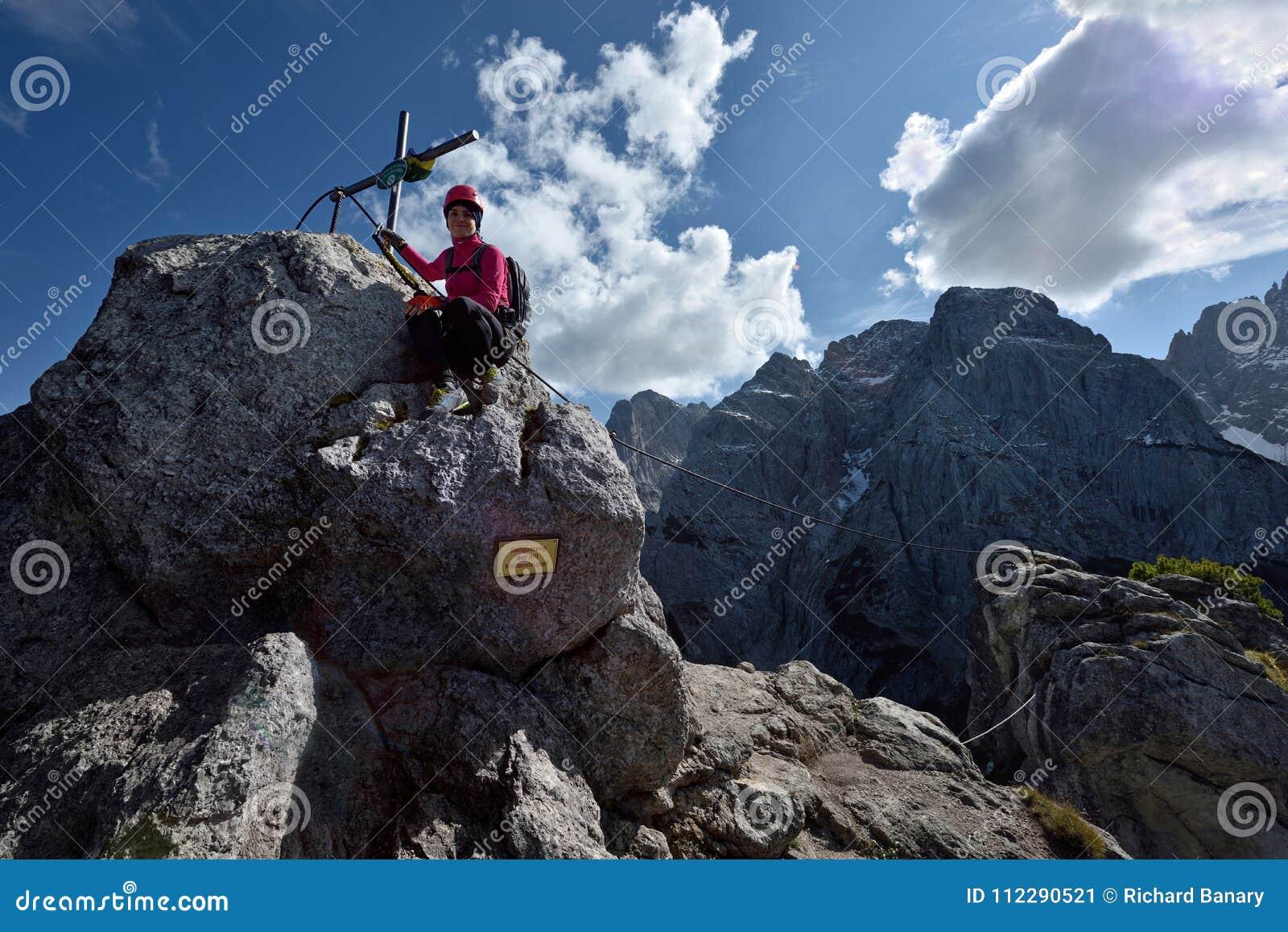 Klettersteig Austria : Hundskopf klettersteig zahmer kaiser tirol austria editorial