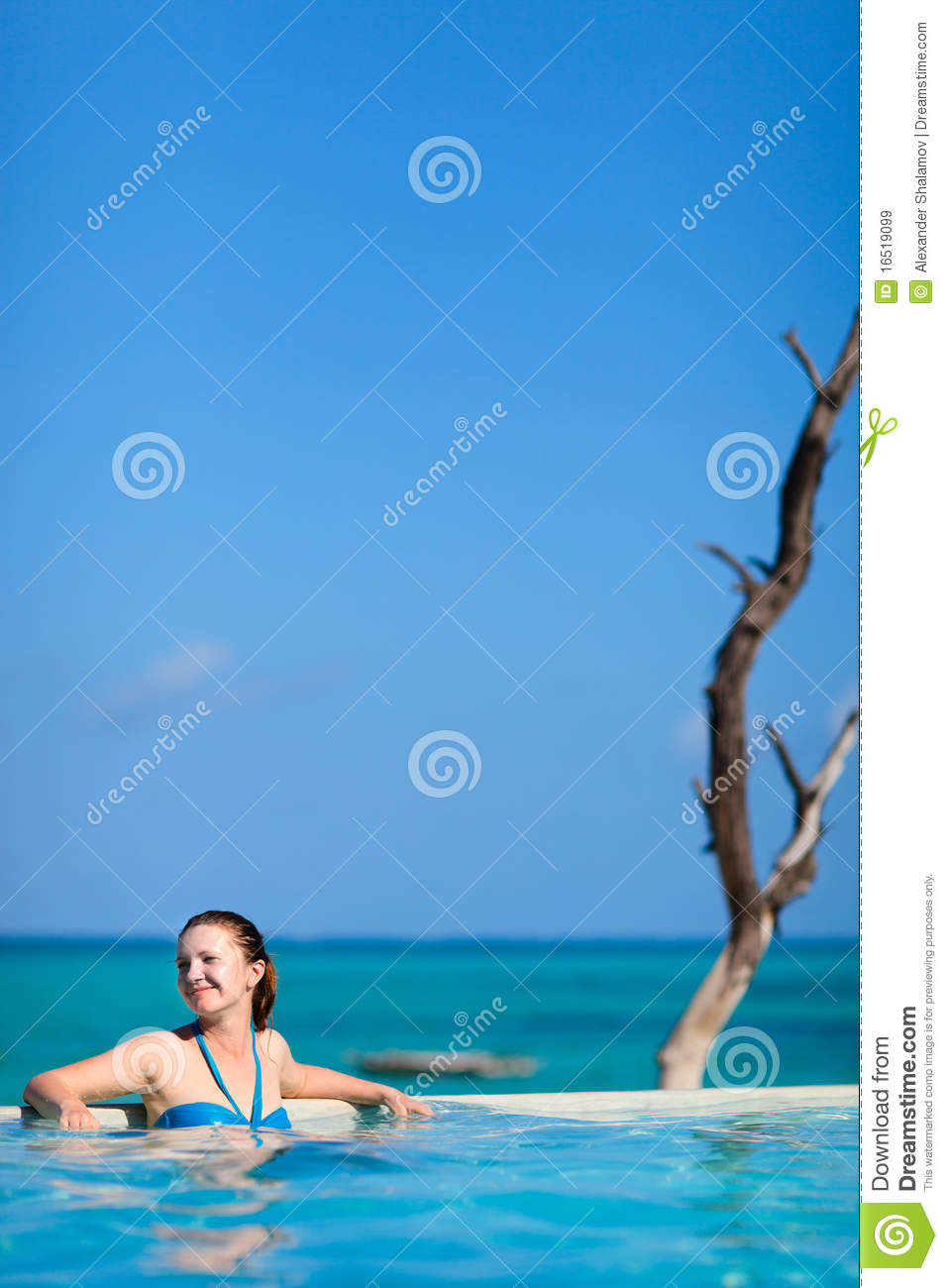 Young Woman In Swimming Pool Royalty Free Stock Images Image 16519099