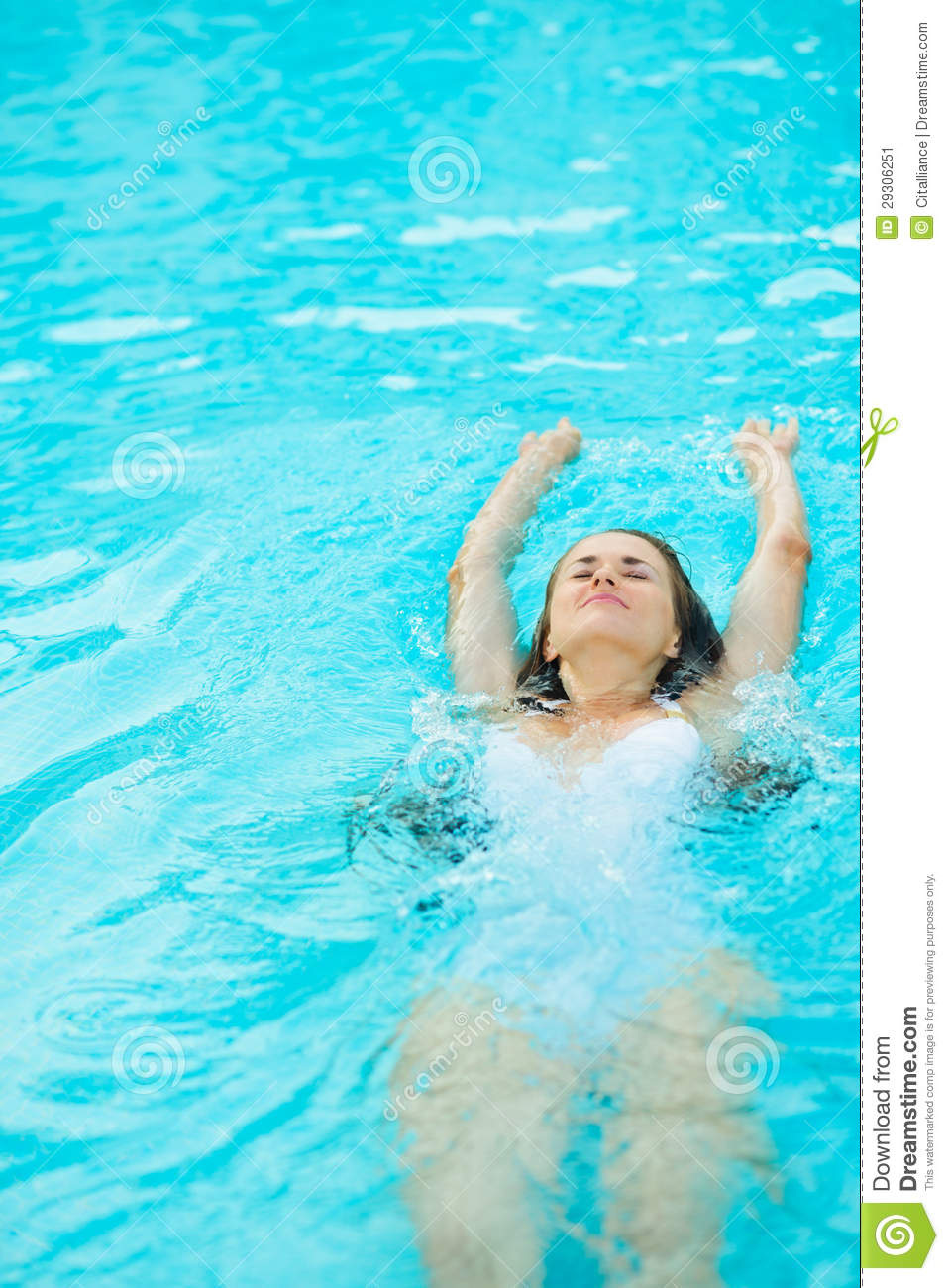 Young woman swimming in pool stock image image 29306251 for Female only swimming pool london
