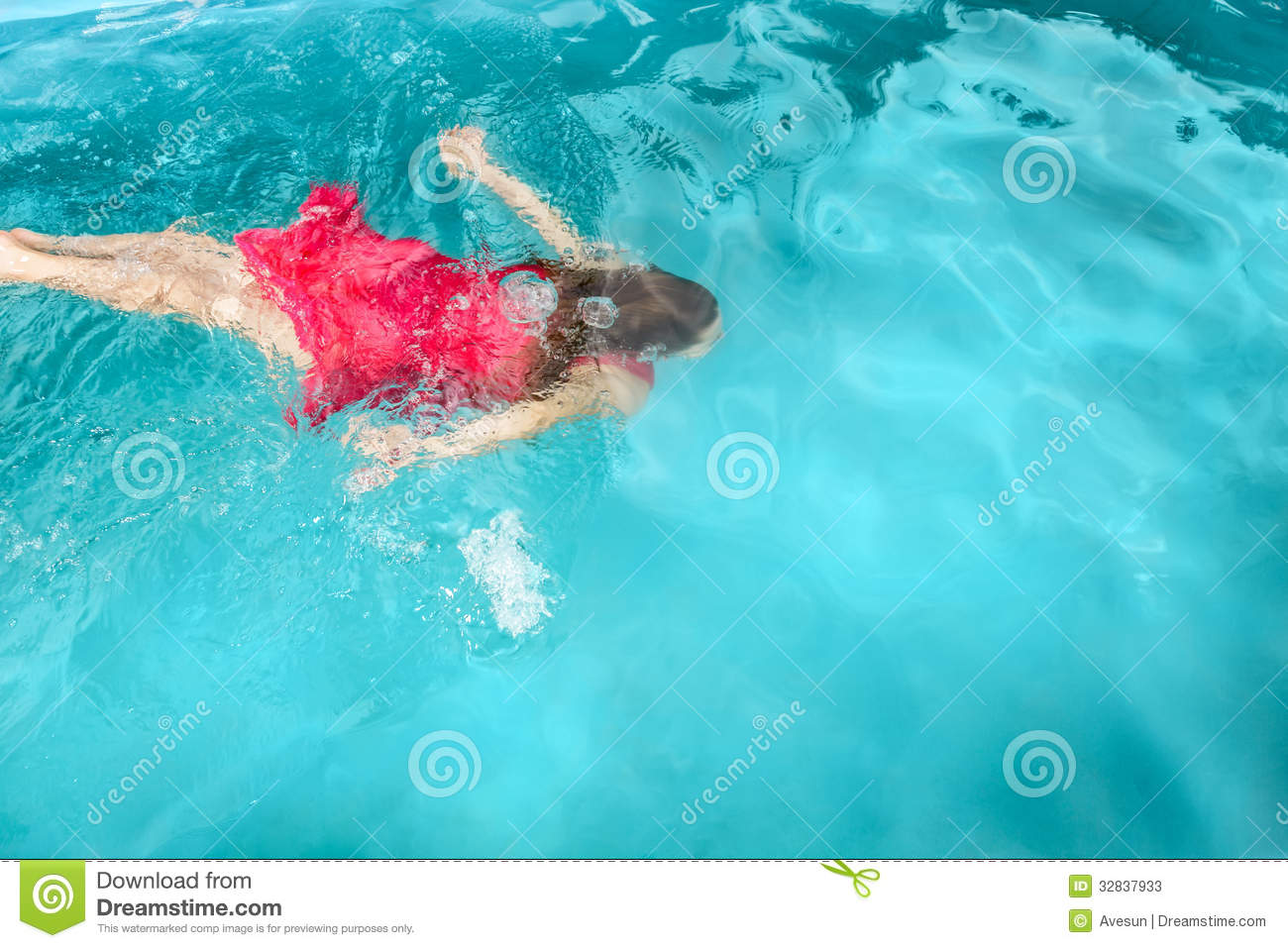 A young woman swimming under water stock image image - Wetherby swimming pool swim times ...