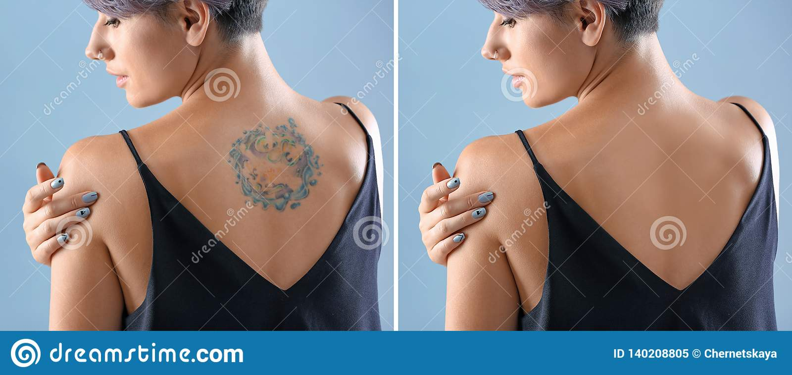Young woman with tattoo