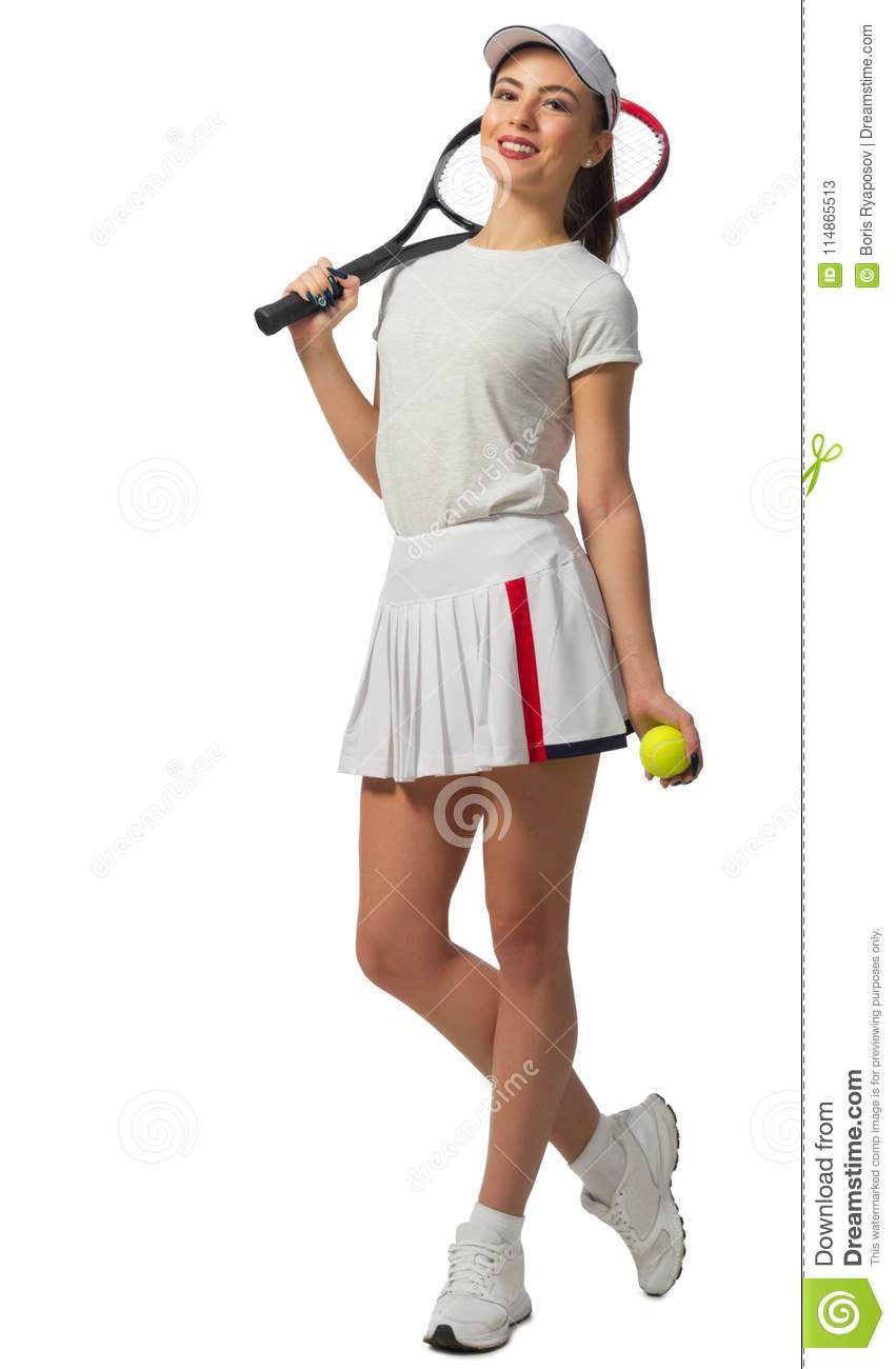 Young Woman Tennis Player Stock Image Image Of Fitness 114865513