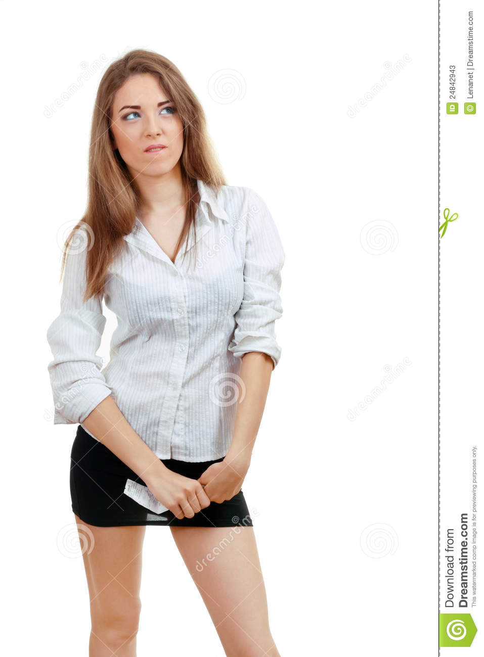 young woman thinking stock photos