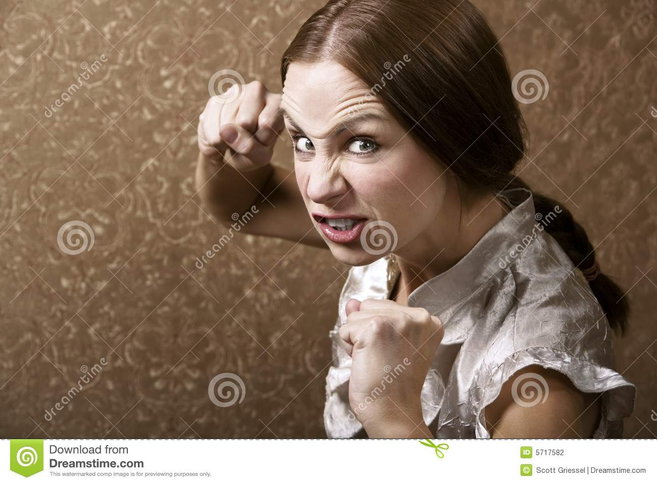 Young Woman Throwing A Punch Stock Photography - Image ...