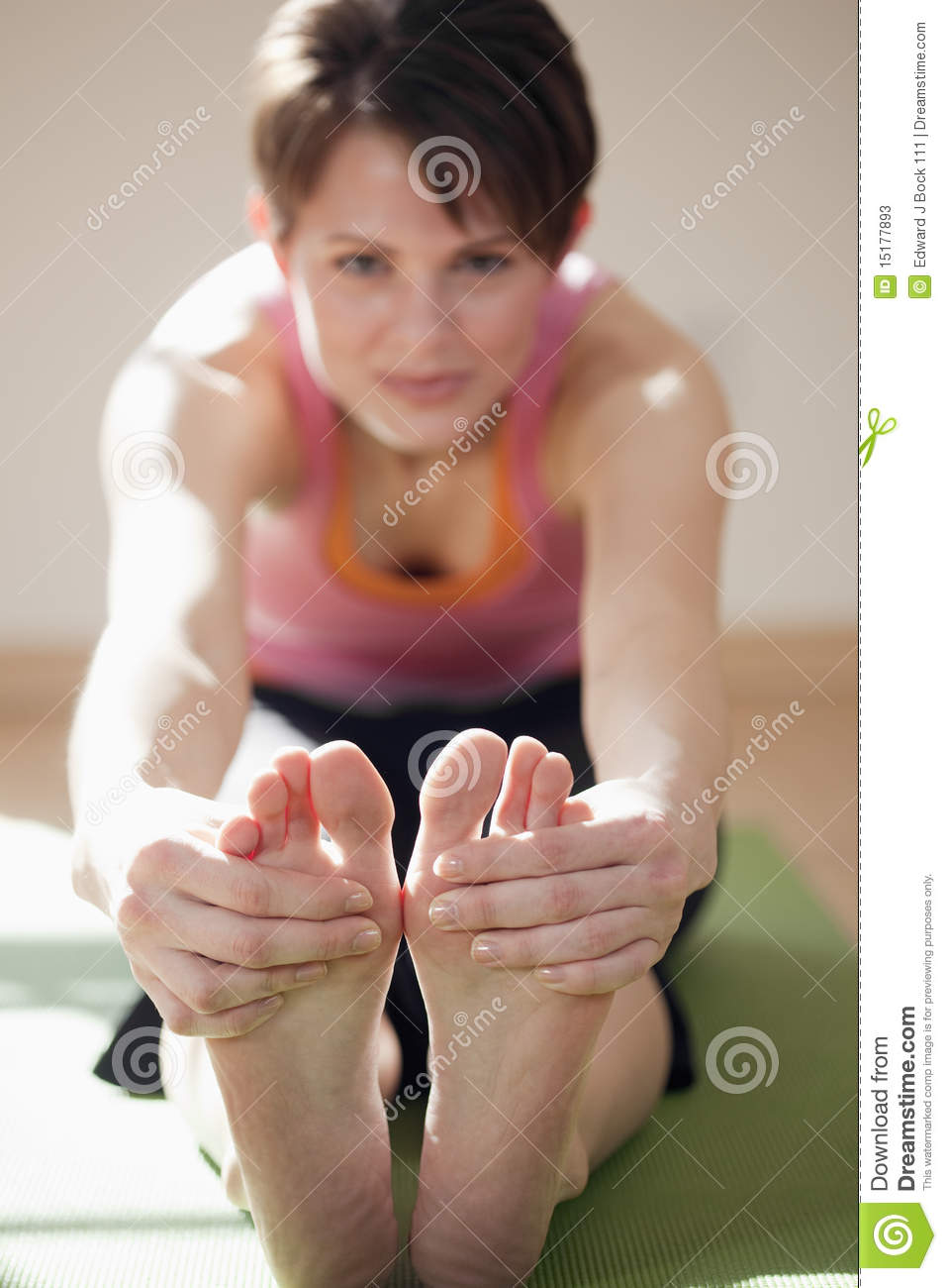 Young Woman Touching Her Toes Stock Photos Image 15177893
