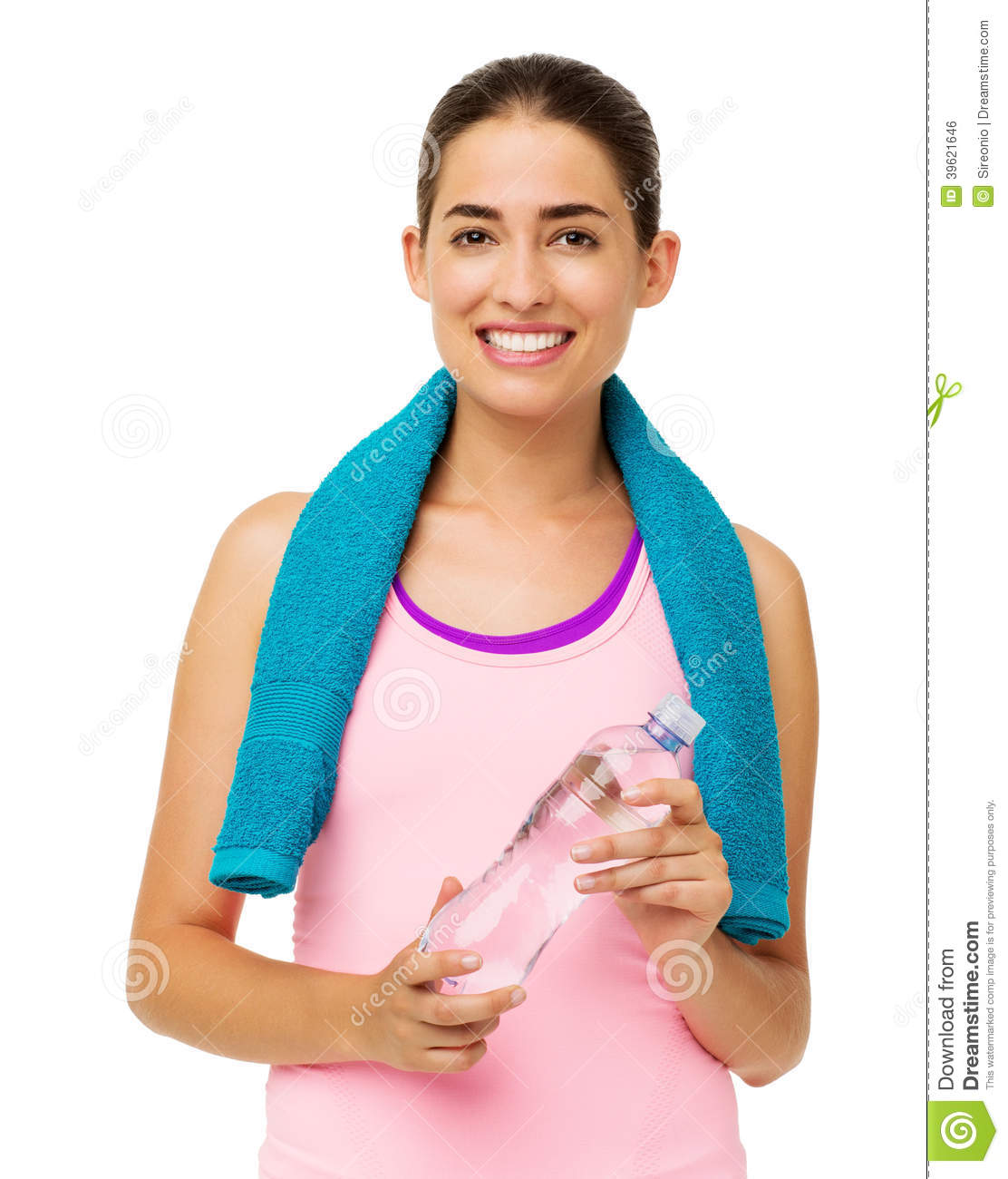 Woman Standing In Towel And Looking Back At Camera Stock Image  Cartoondealercom -5077