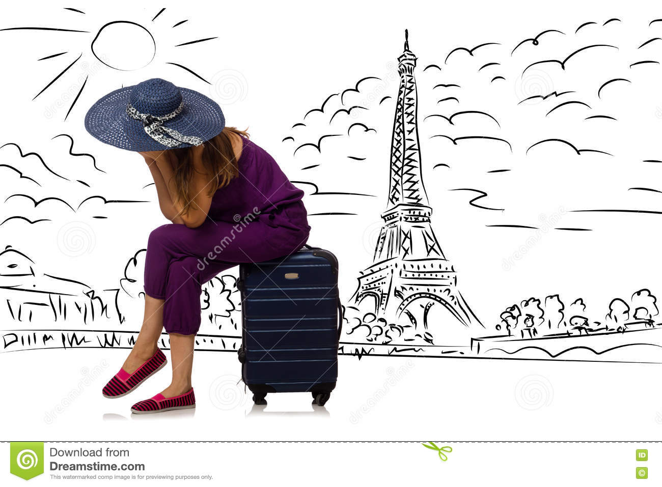 The young woman travelling to paris
