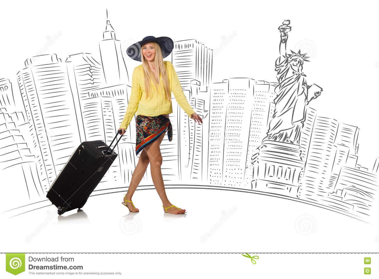 The young woman travelling to usa