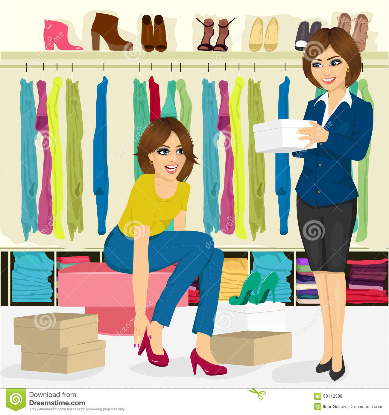 shop assistant in shoe store royalty stock photos image young w trying on different shoes help of shoe store assistant royalty stock photos