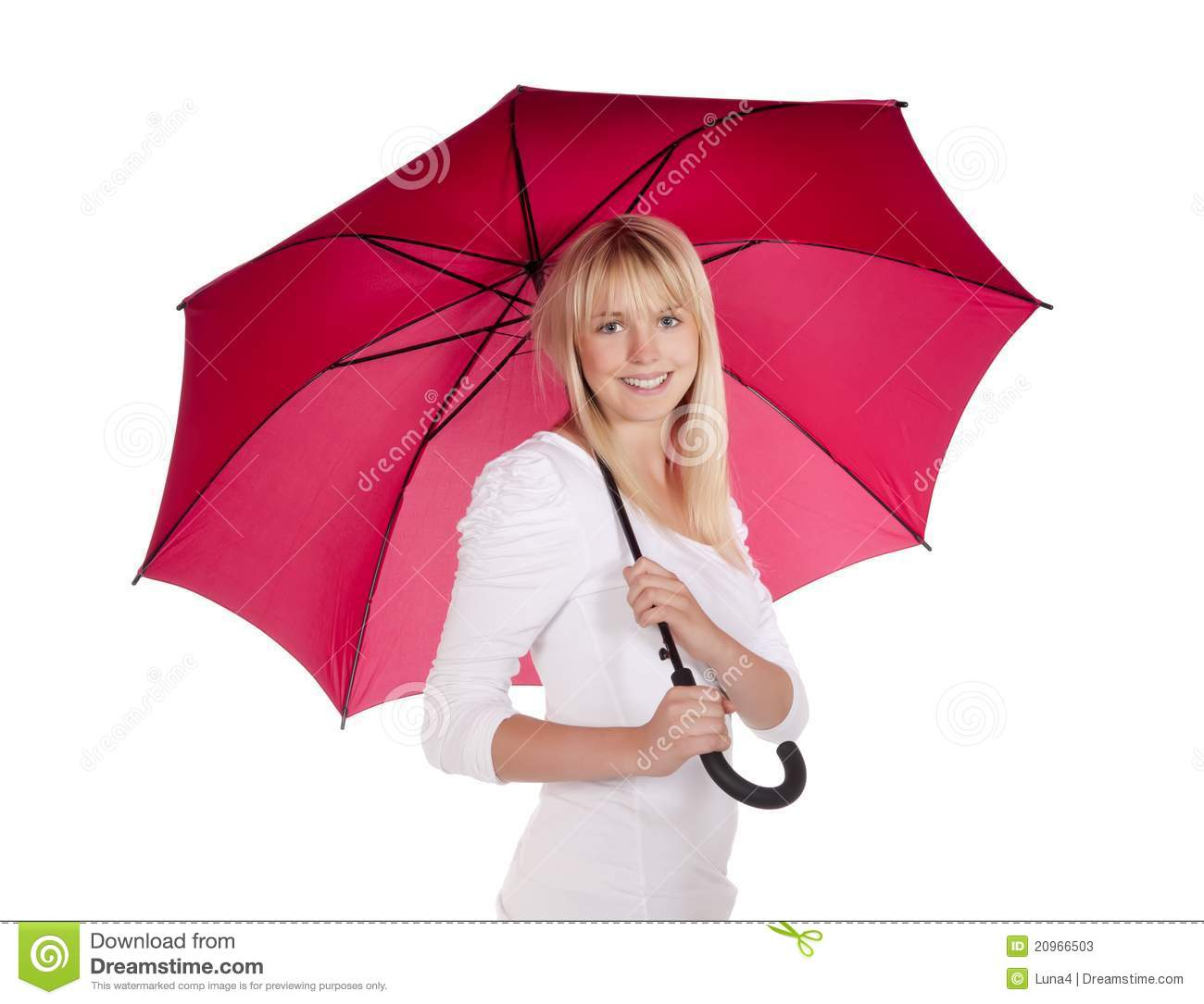 Young Woman With Umbrella Stock Photos - Image: 20966503