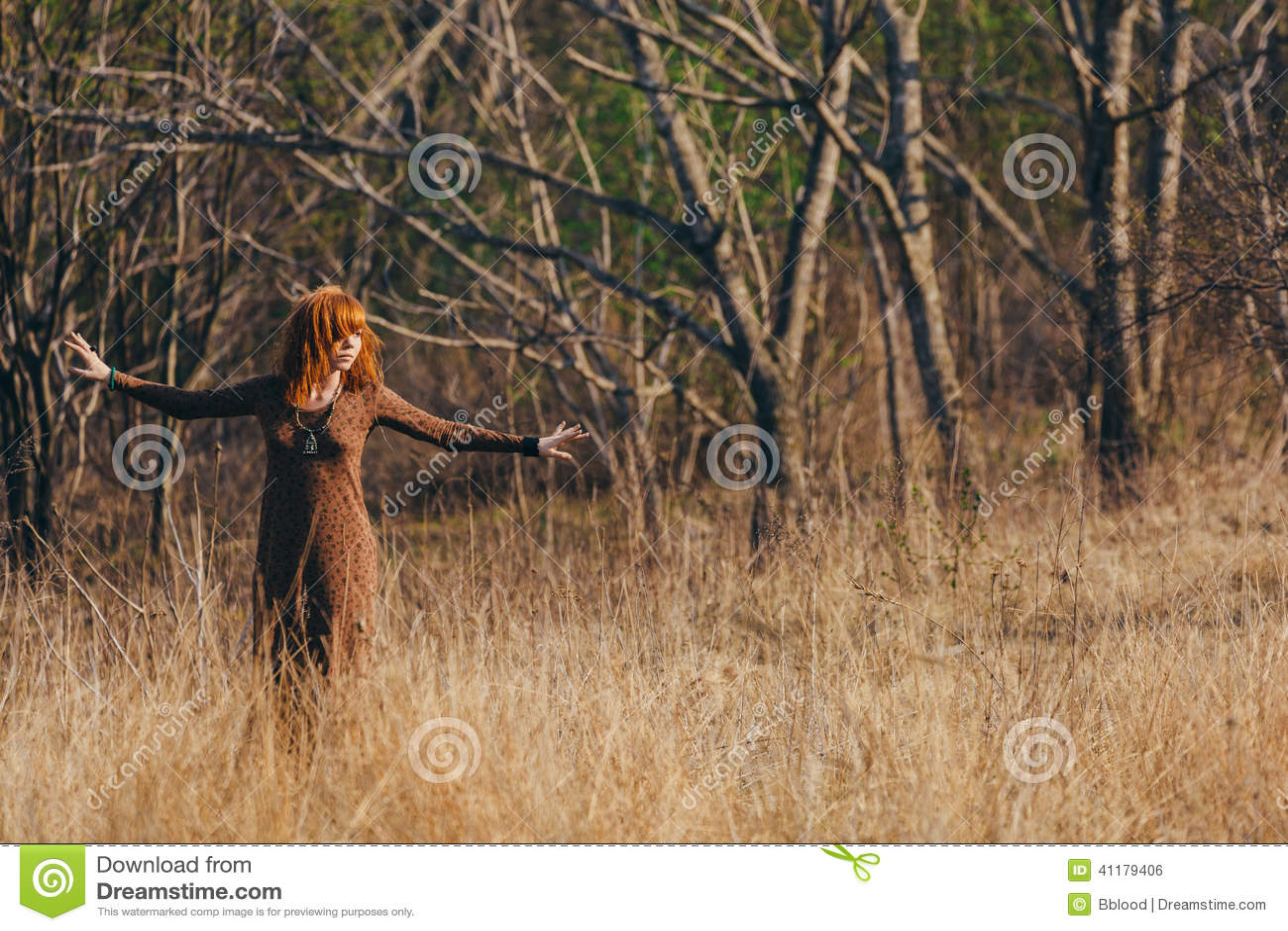 woman walking in grass - photo #15