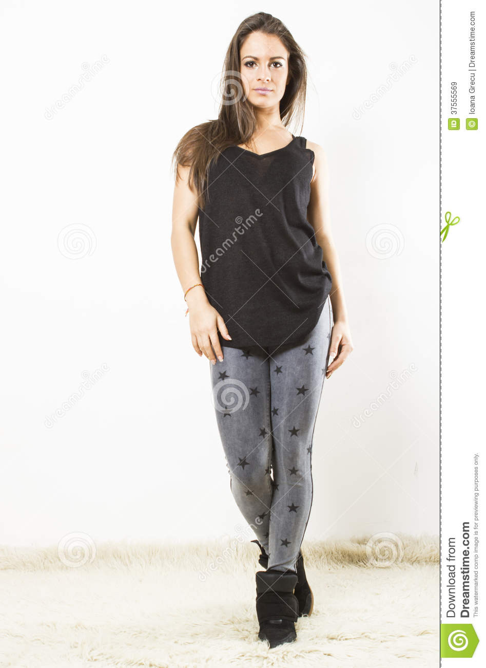 Young Woman Walking Towards You Stock Image - Image of ...
