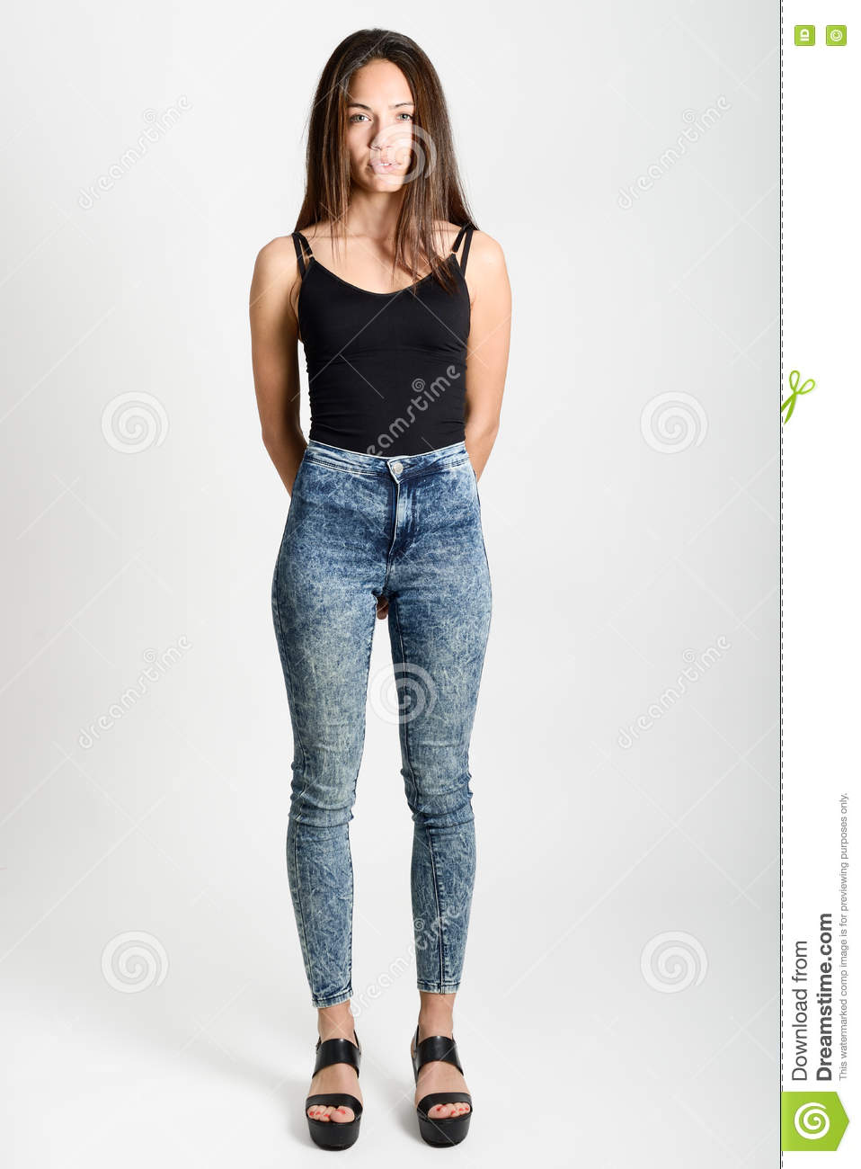 Young Beautiful Model Posing Her Head On Isolated White Background   Male Models Picture