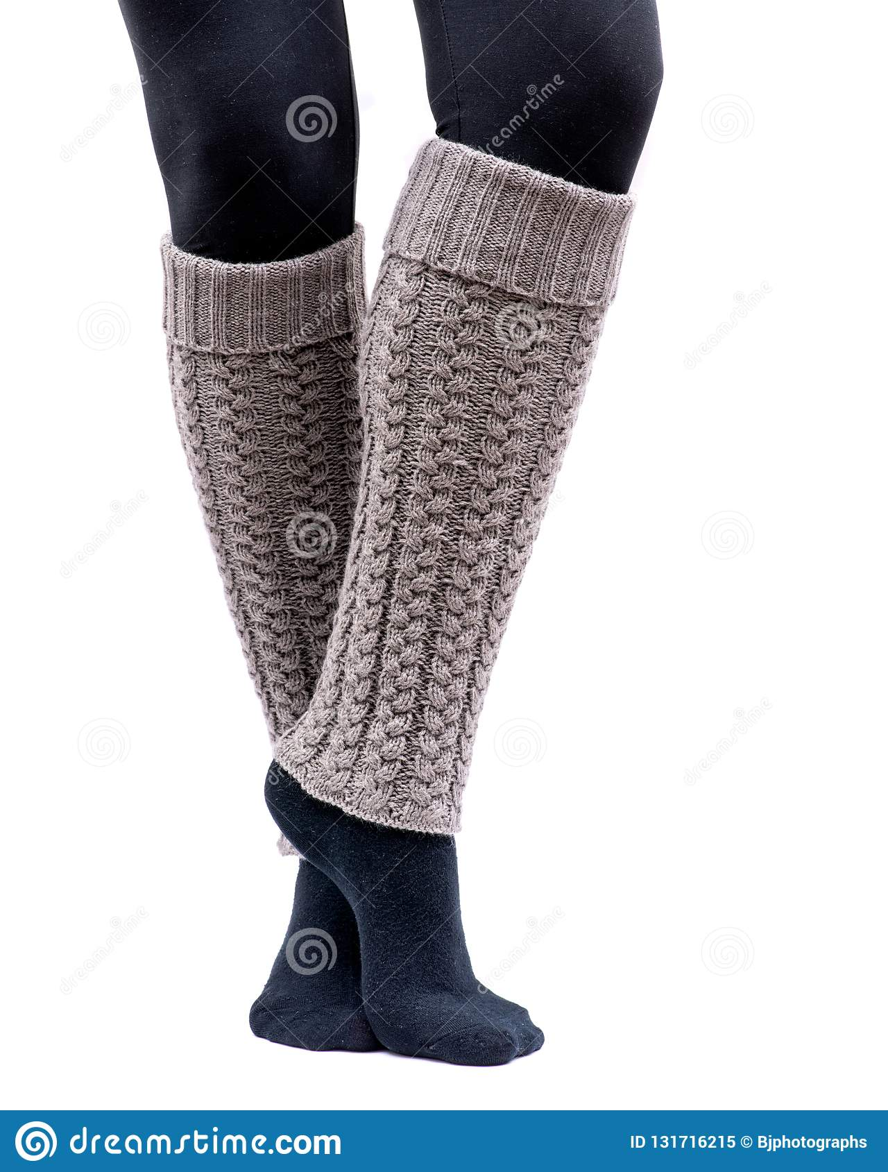 Fashion week Wear to what with white leg warmers for lady