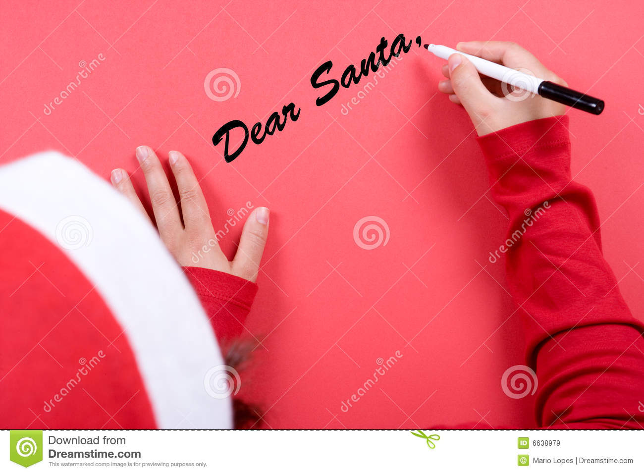 young woman writing a letter to santa claus