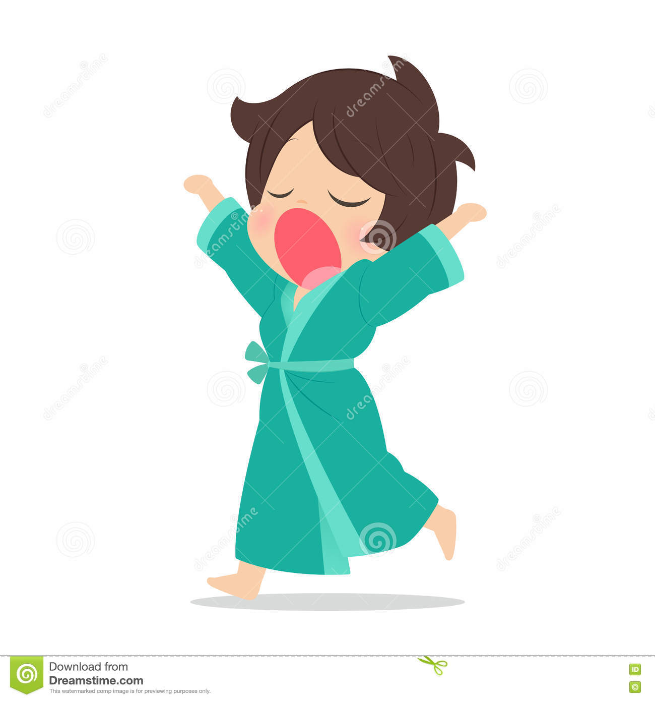 Young Woman Yawning, Illustration Stock Illustration ... for Clipart Yawn  589hul