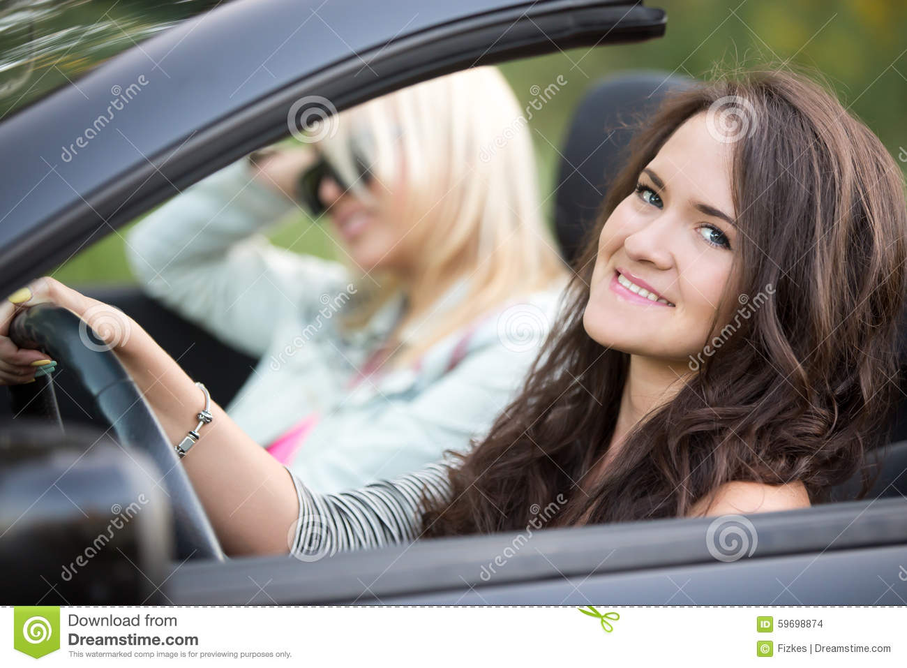 driving a car or riding a