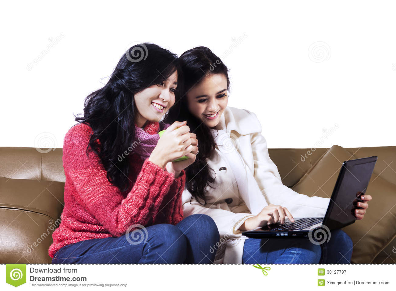 Young Women Online Shopping Royalty Free Stock Photography - Image ...