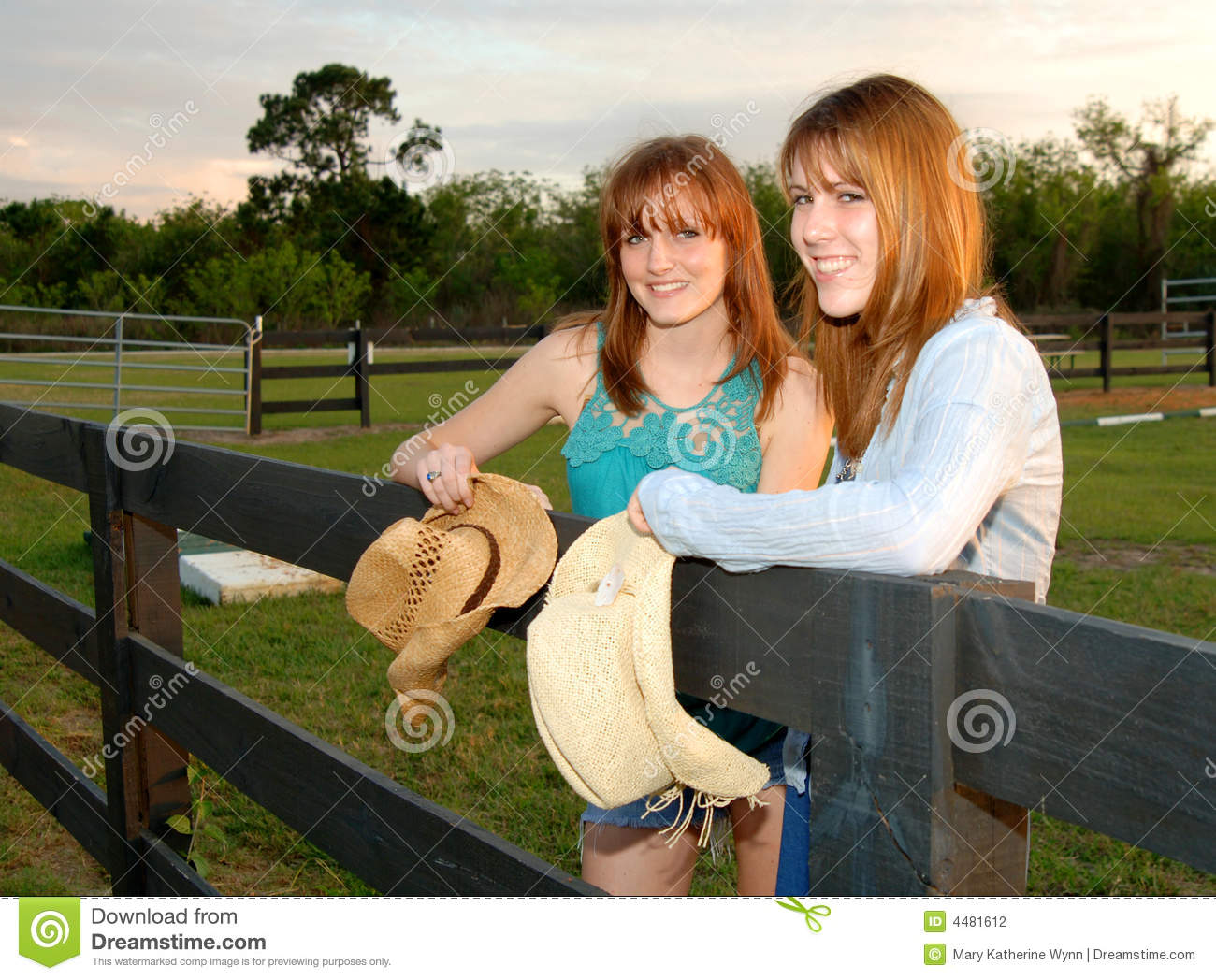 Young Women At Ranch Stock Photography Image 4481612