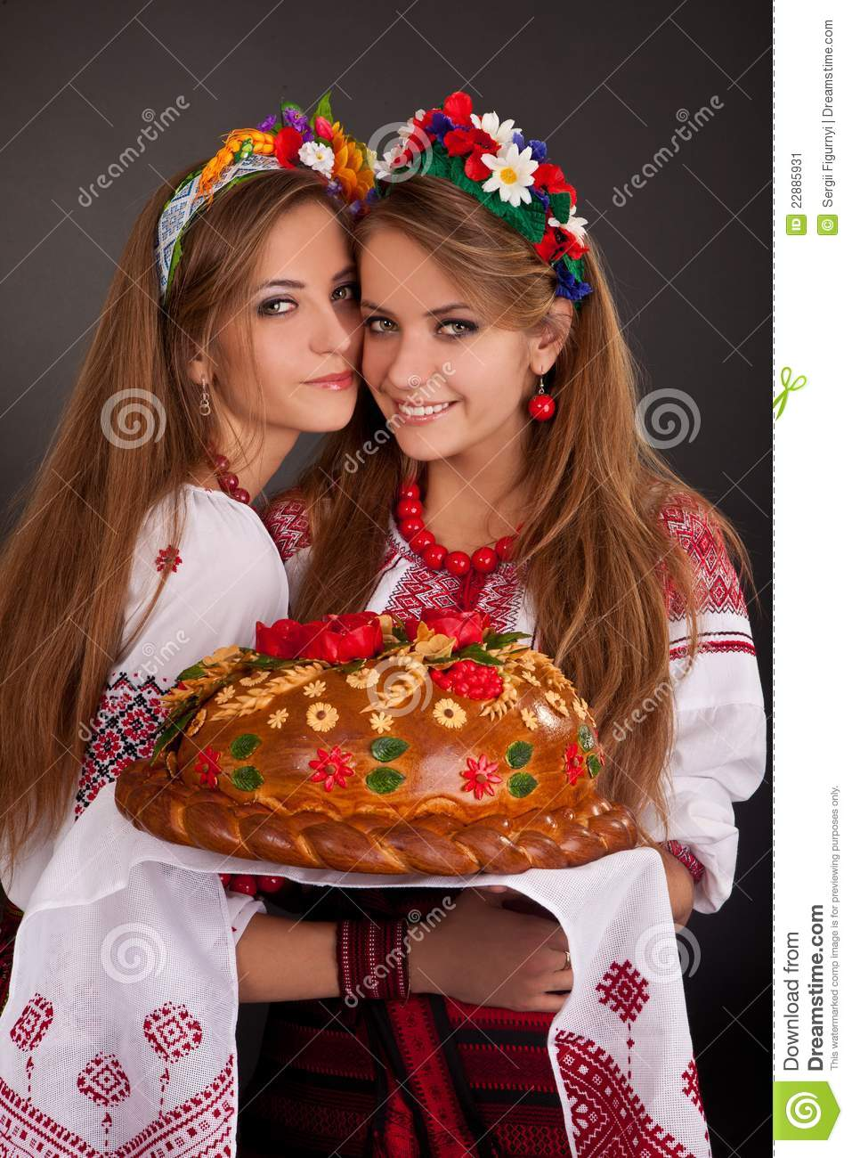 Young Women In Ukrainian Clothes Stock Image Image 22885931