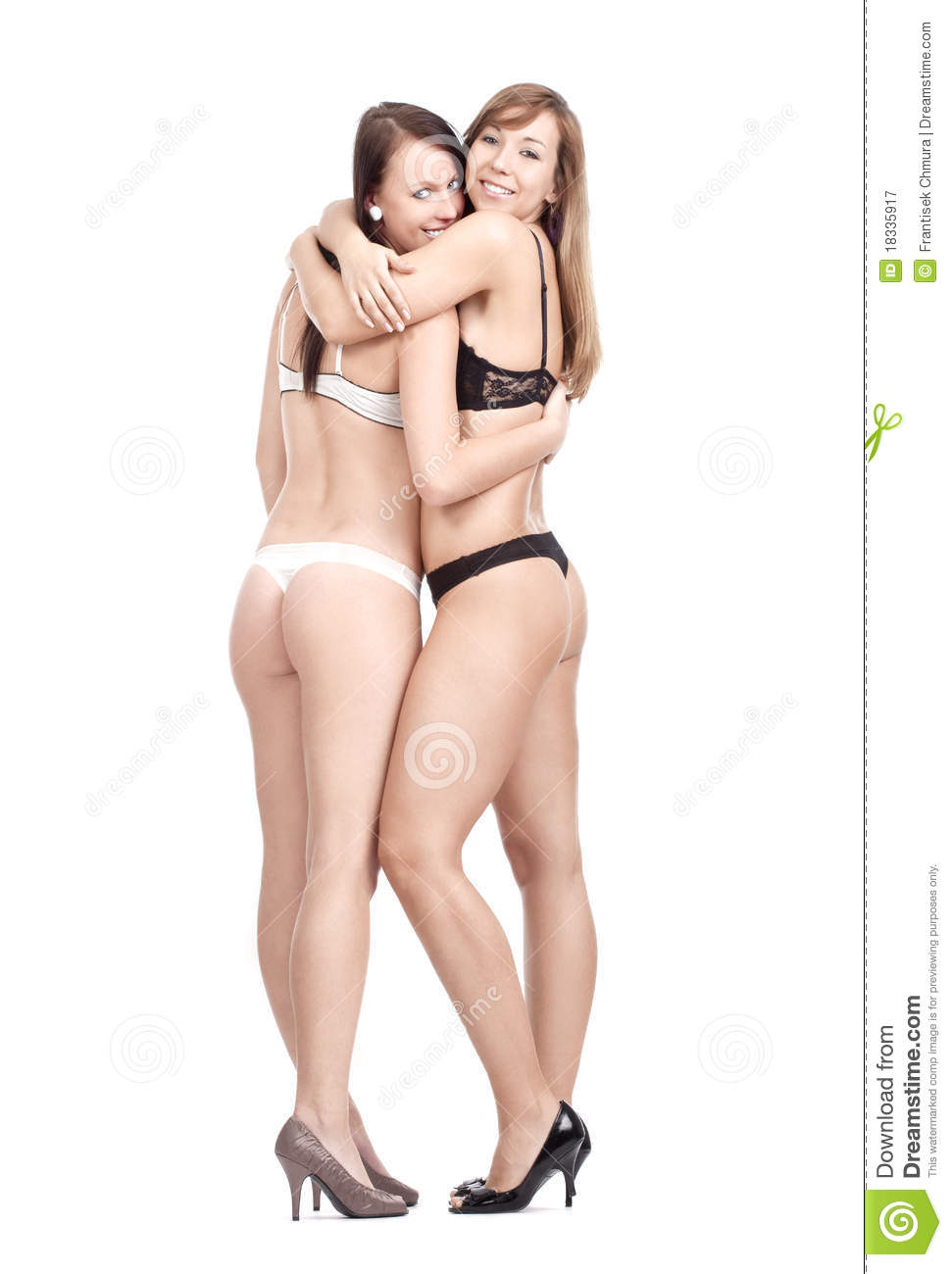 Young Women In Underwear Royalty Free Stock Photography - Image ...