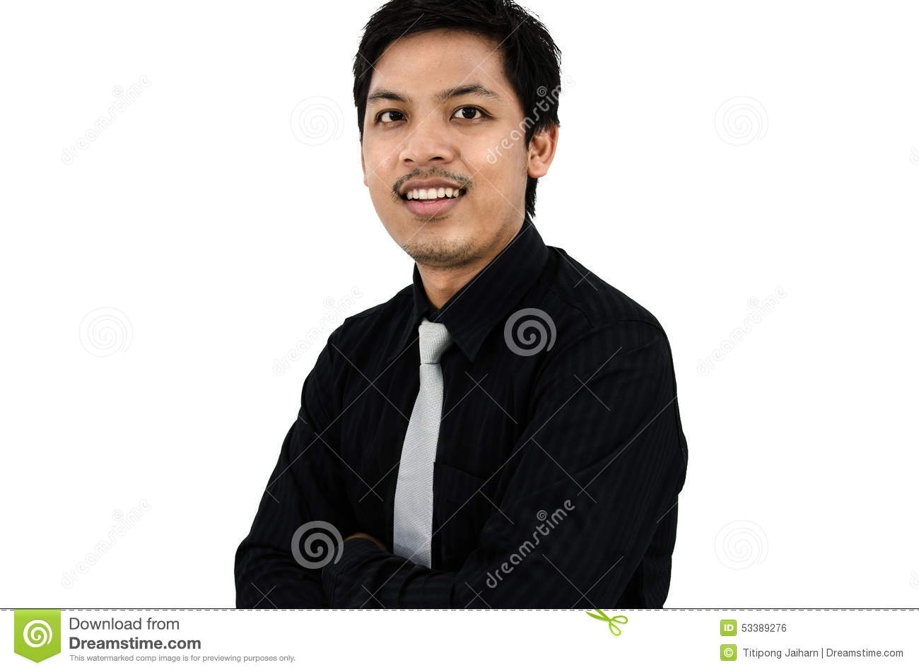 Friendly And Cheerful Young Business Man Smiling Stock ...