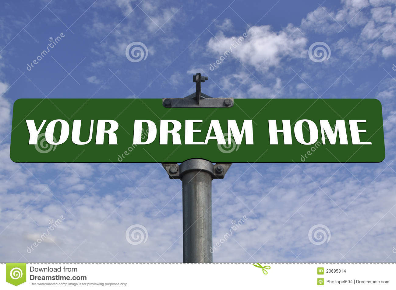 Your dream home road sign stock images image 20695814 for Build dream home online for fun
