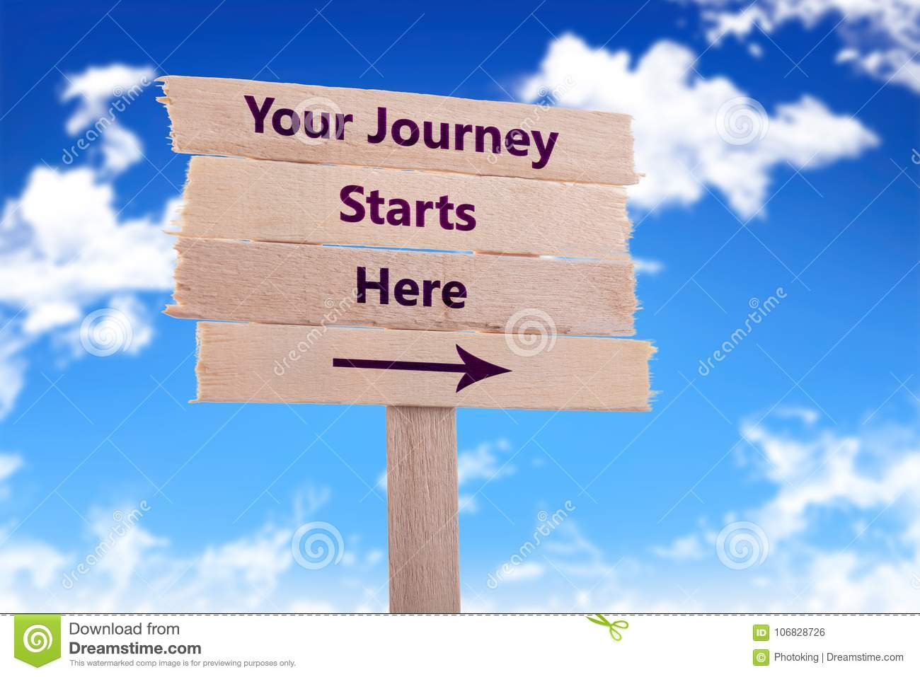 Your Journey Start Here Stock Photo. Image Of Guidance