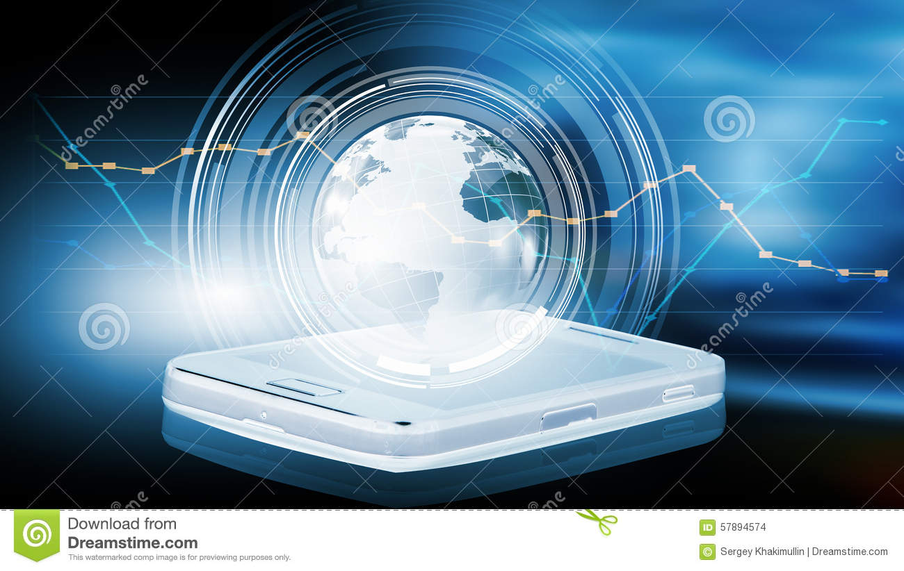 Your mobile connection stock photo image 57894574 for Internet plante