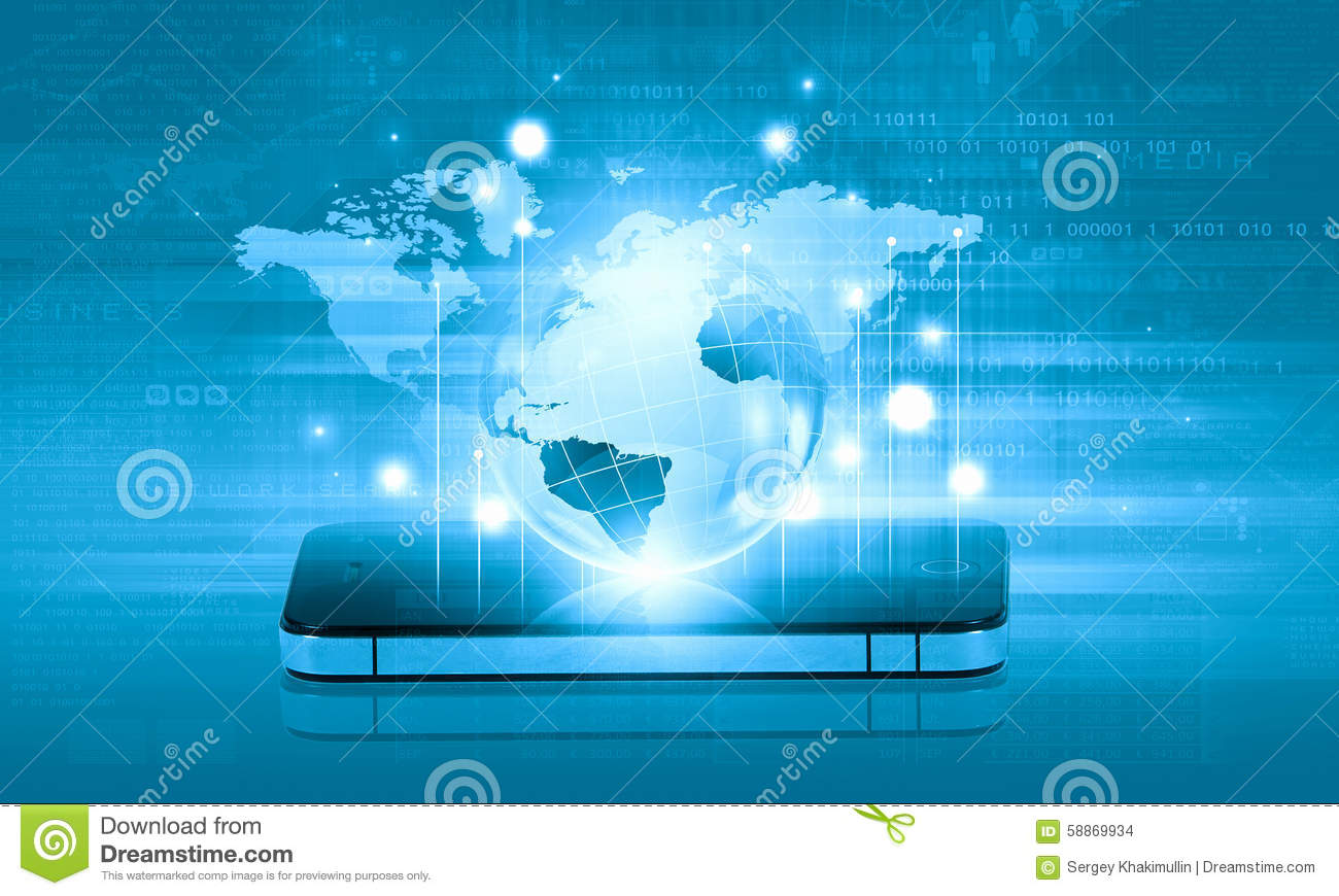 Your mobile connection stock photo image 58869934 for Internet plante