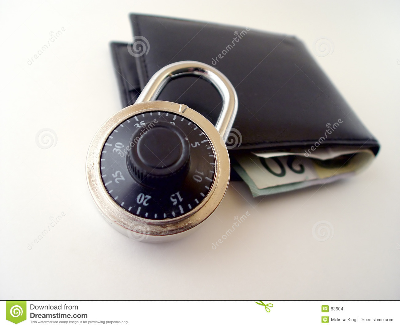 Is your Money Secure stock photo  Image of face, lock