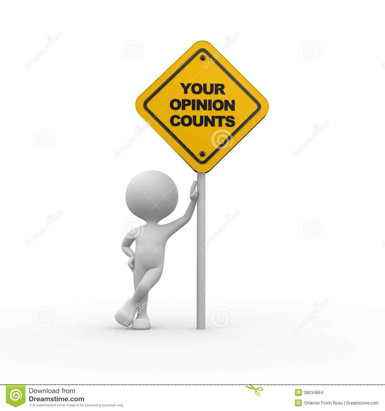 Your Opinion Counts Stock Images Image 38034864
