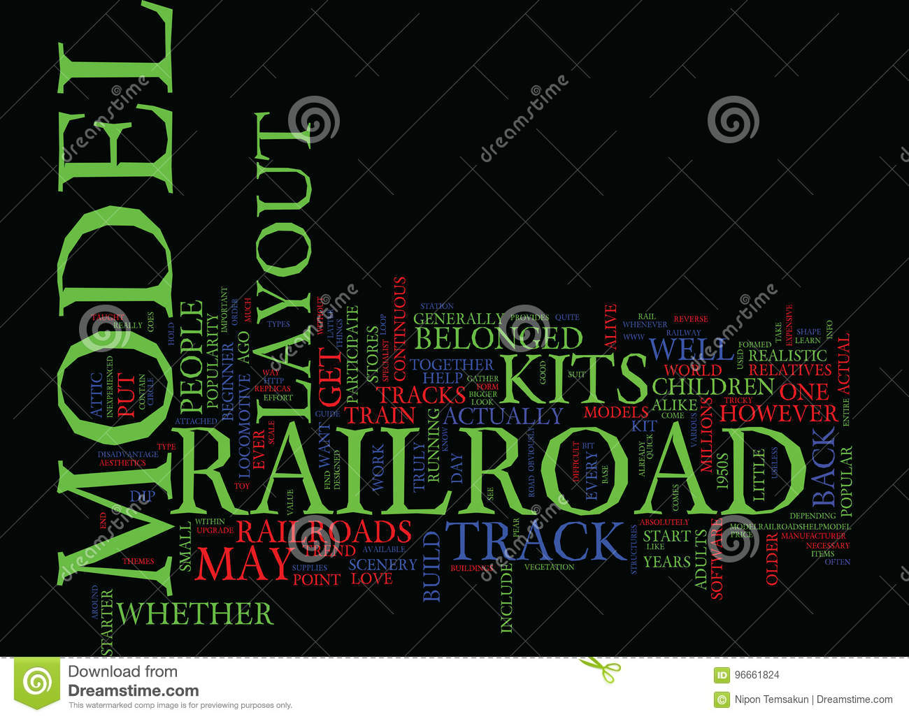 Your Quick Guide To Model Railroad Layout Kits Text Background Word Cloud Concept Stock Illustration Illustration Of Kits Belonged 96661824