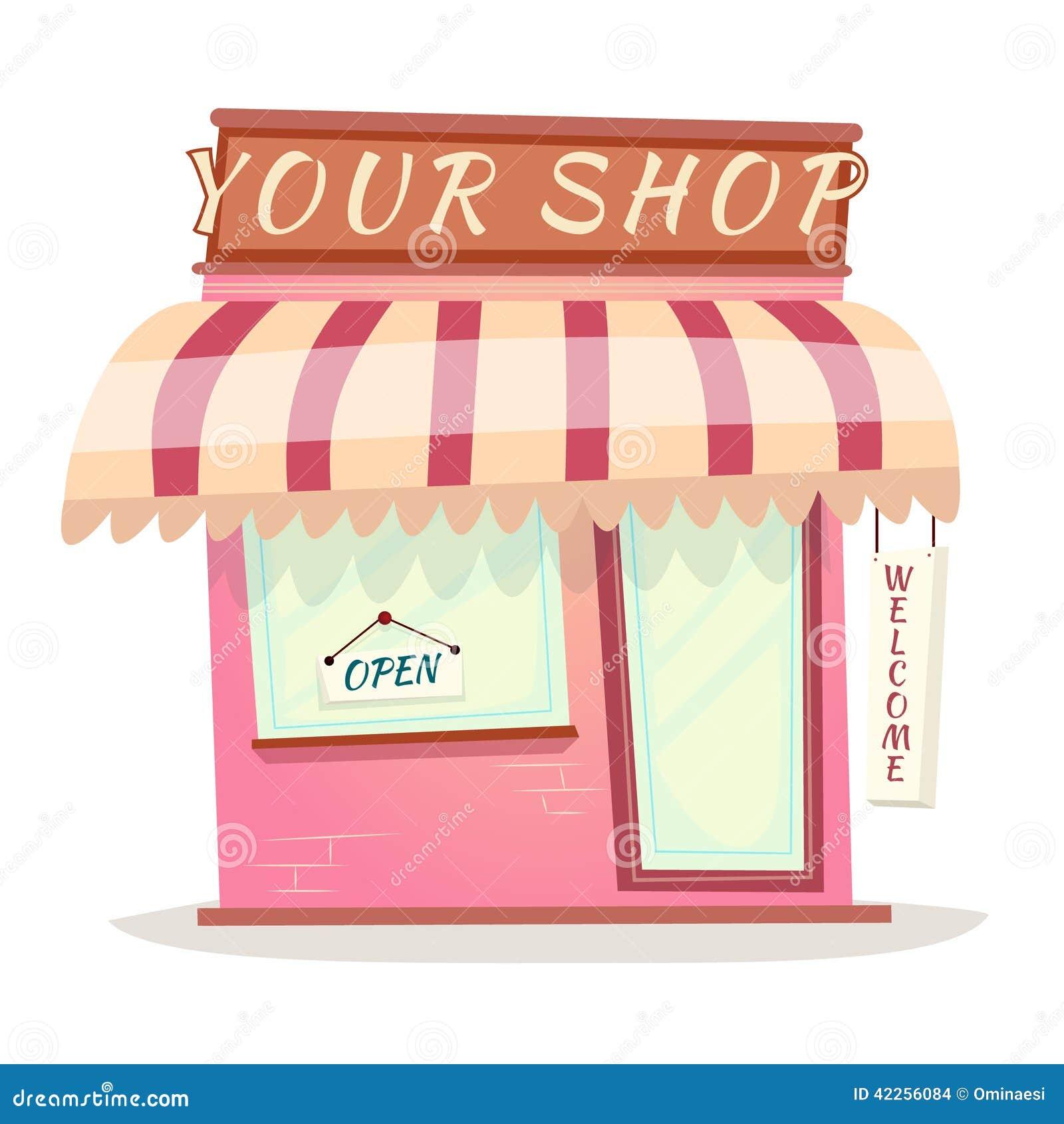 Your Retro Shop Icon House Cartoon Isolated Vector Stock