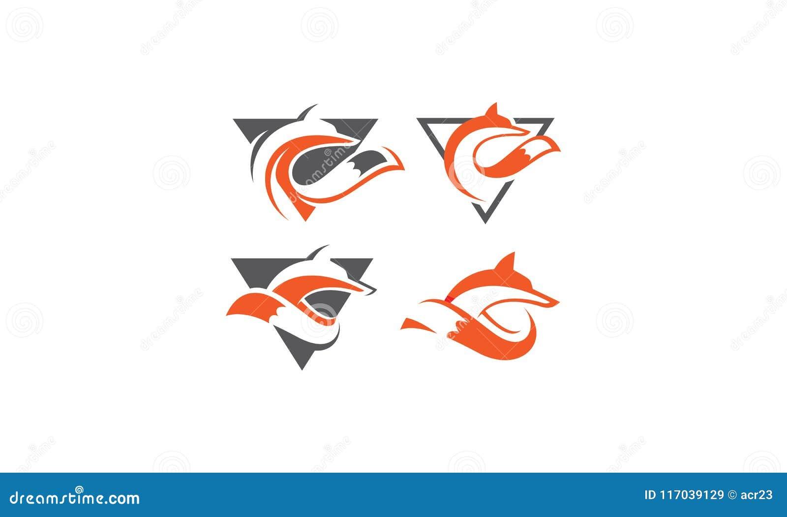 Fox Animal Vector Logo Stock Vector Illustration Of Face 117039129