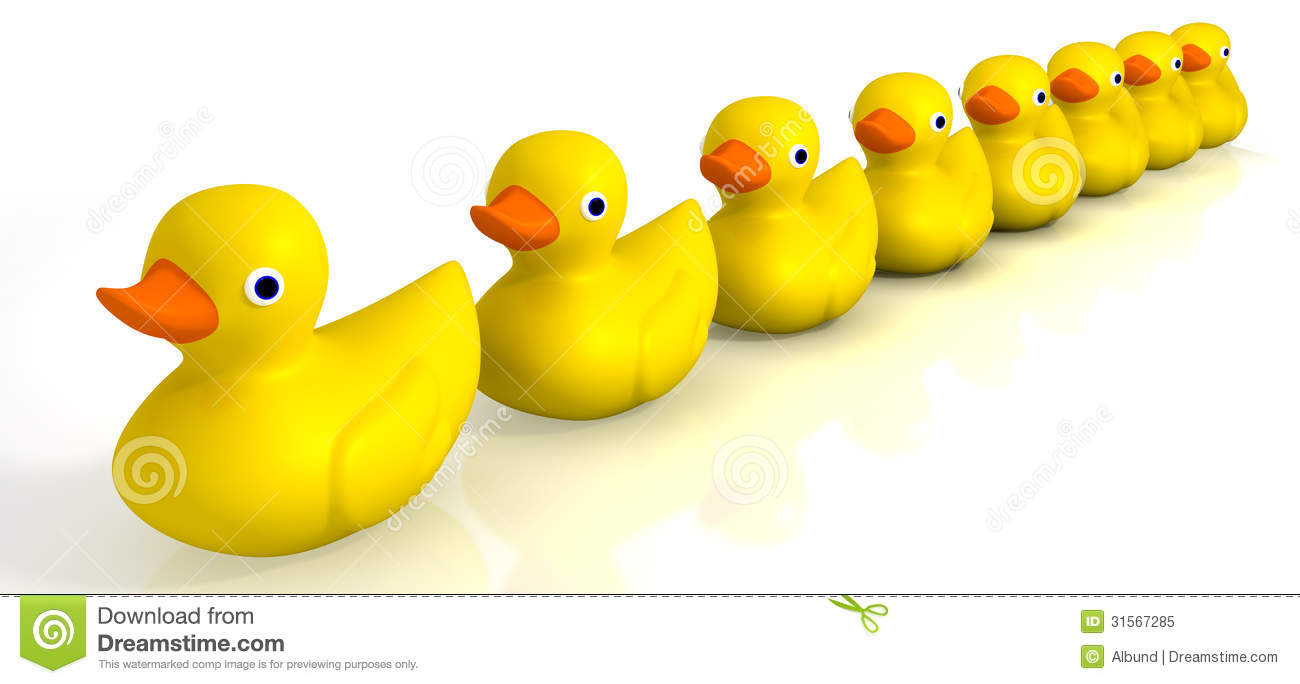 Your Toy Rubber Ducks In A Row Royalty Free Stock Photo