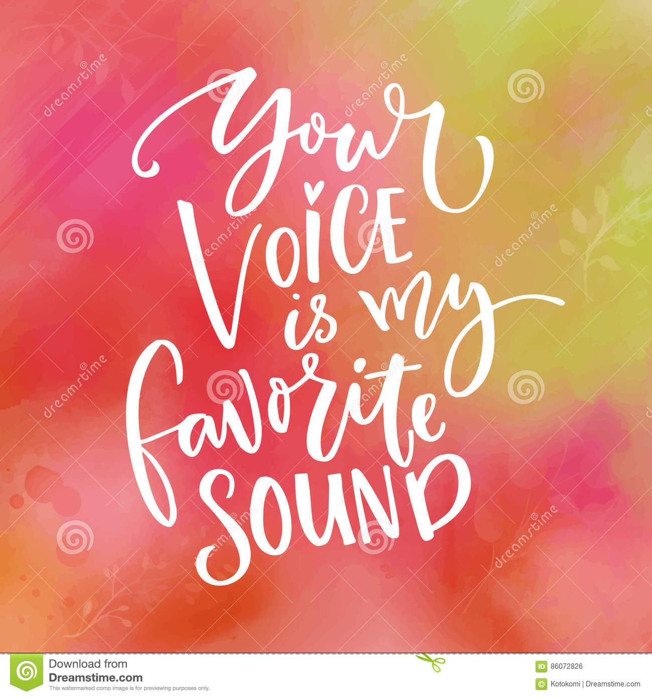 Your Voice Is My Favorite Sound  Love Saying For Valentine`s