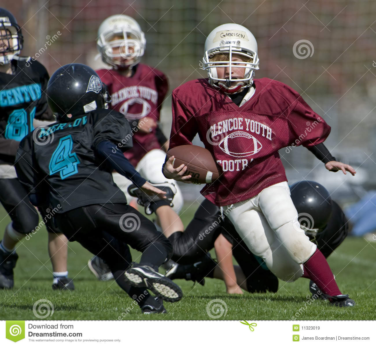 Youth American football game