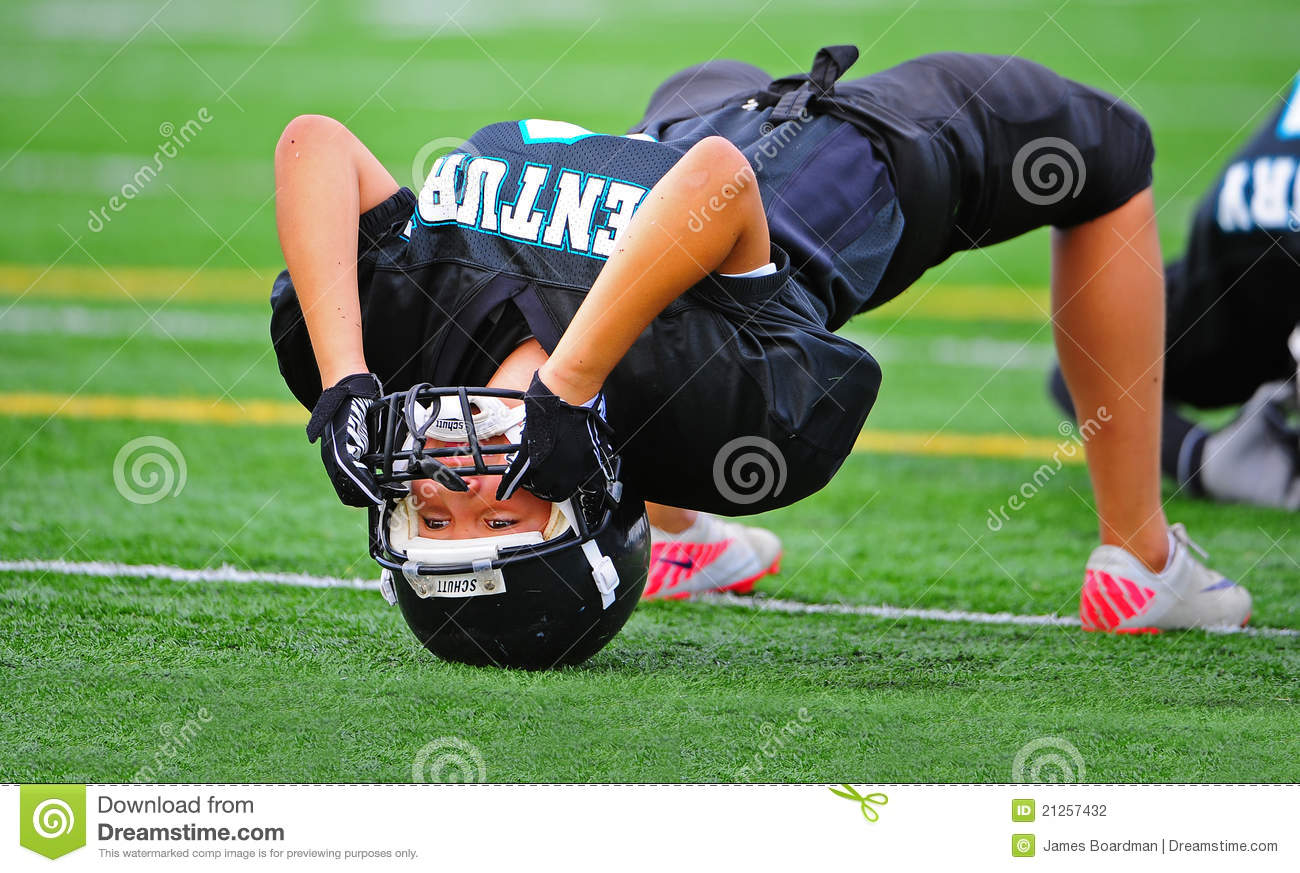 Youth American Football Warming Up Editorial Photography ...