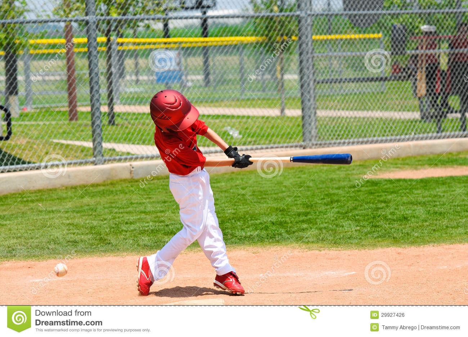 Young Baseball Player Swinging Bat Royalty Free Stock ...