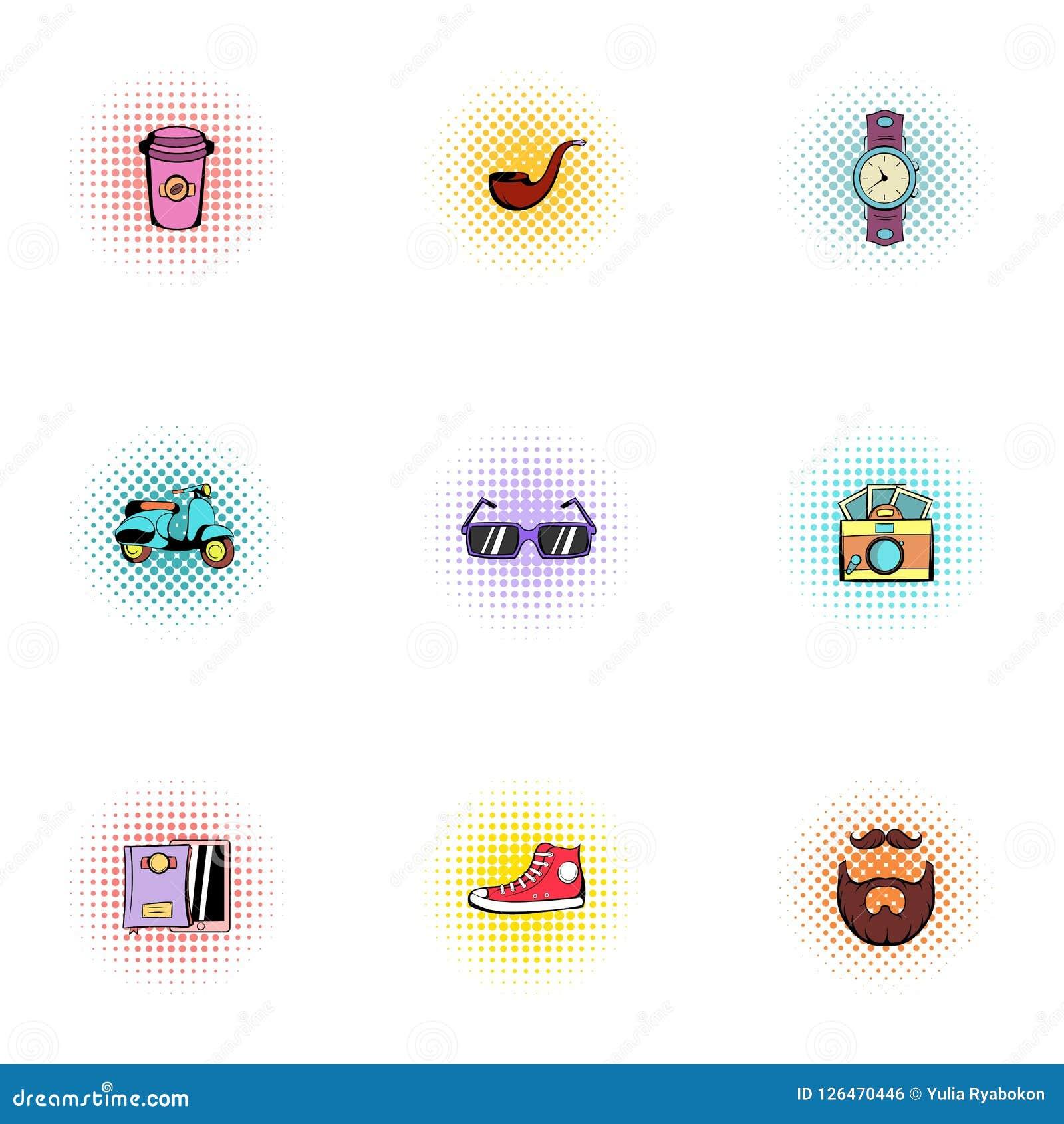 48c0418889e5 Youth Icons Set