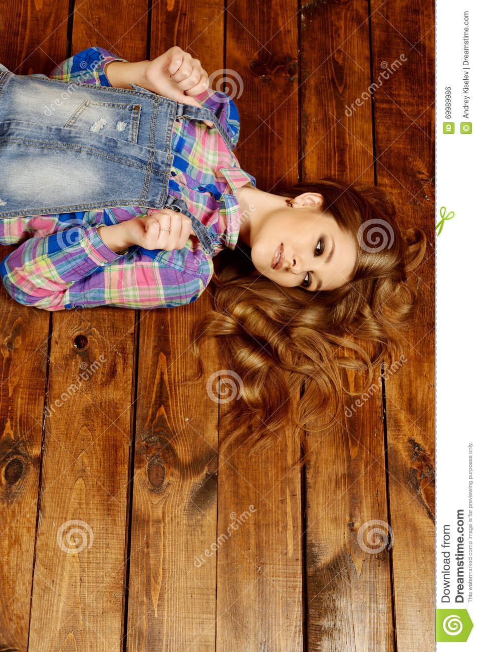 Youth jeans style stock photo  Image of portrait, female - 69989986