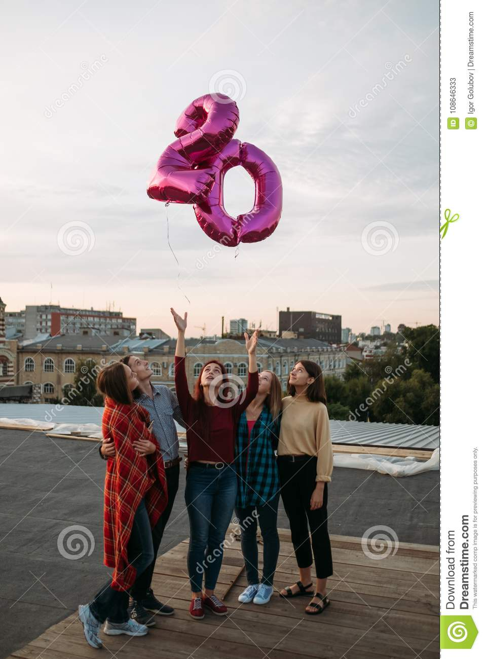 Youth 20 Birthday Rooftop Party Freedom Balloons