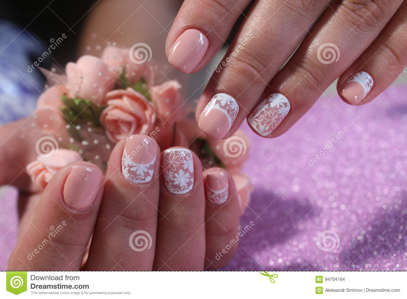 Youth Nail Design In Pastel Shades Stock Photo Image Of Color