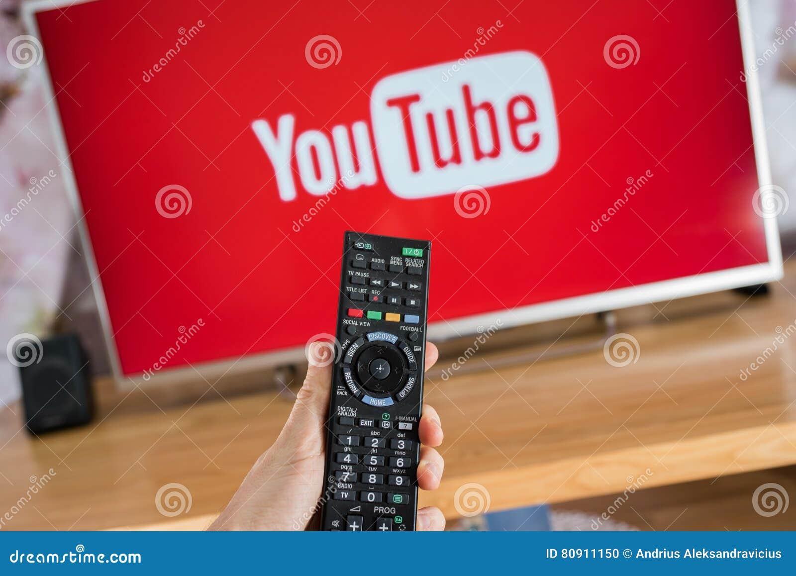 YouTube app on Sony smart TV