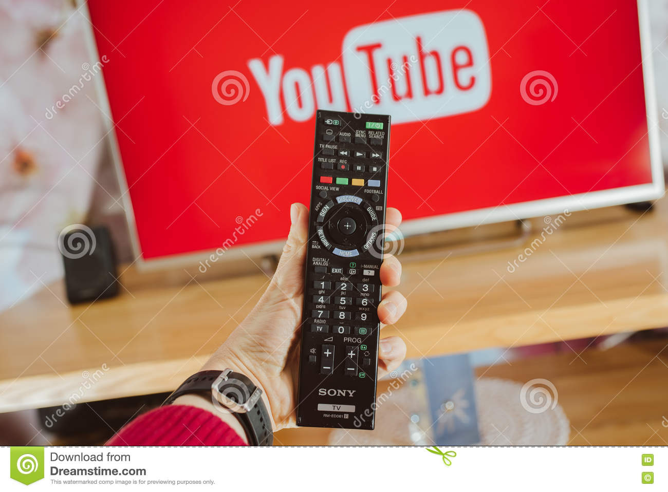 YouTube App On Sony Smart TV Editorial Stock Image - Image