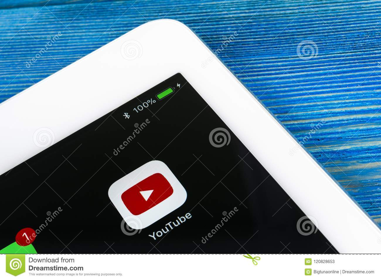 Youtube Application Icon On Apple Ipad Pro Smartphone Screen Close