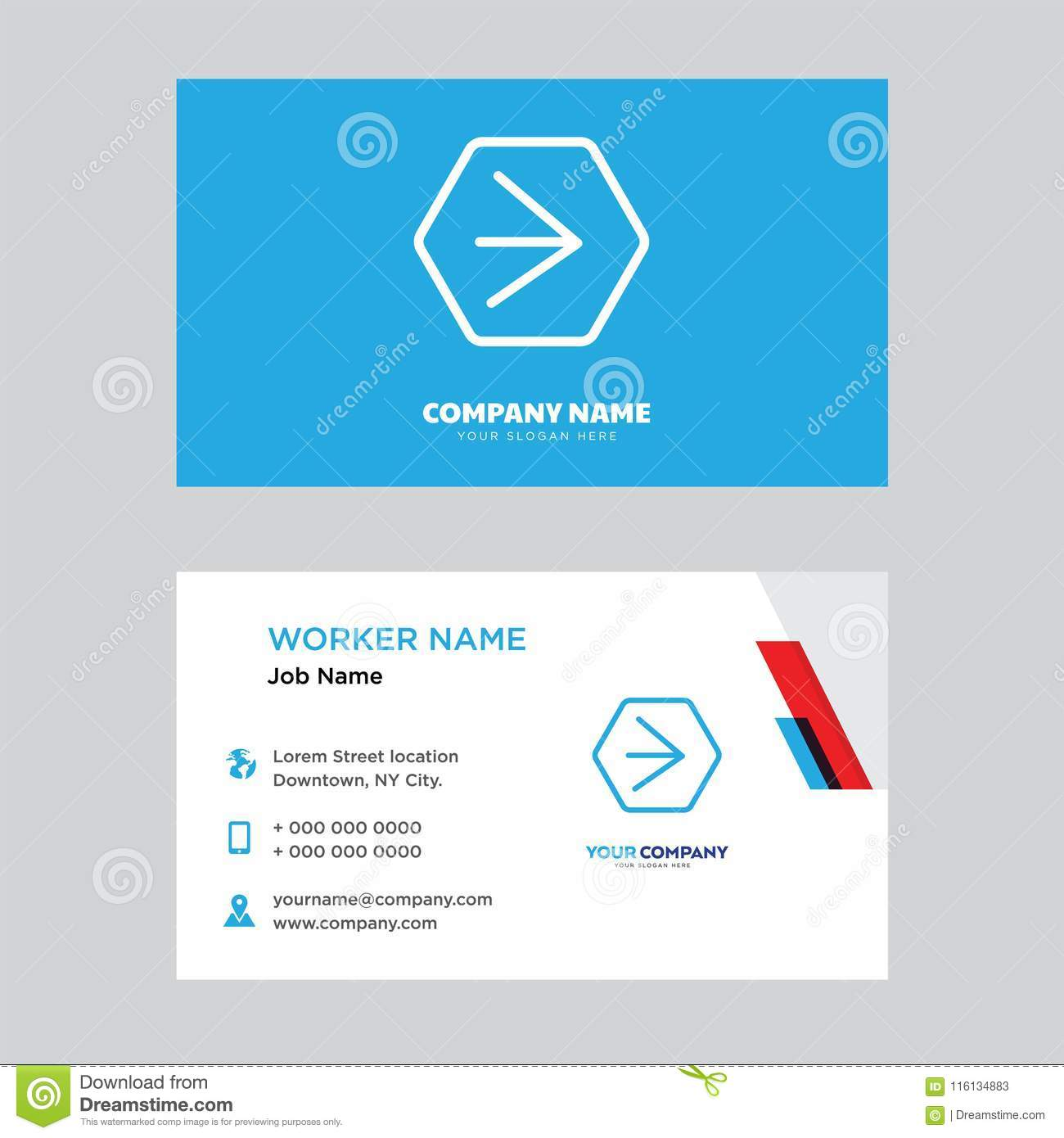 Youtube business card design stock illustration illustration of youtube business card design template visiting for your company modern horizontal identity card vector reheart Image collections